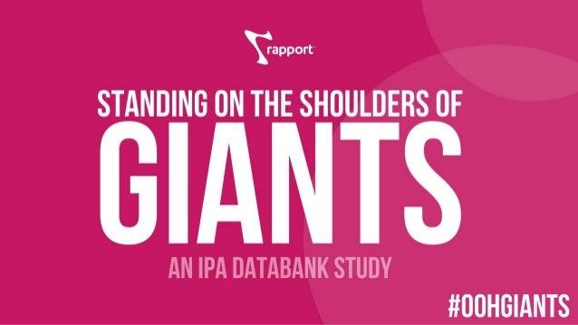 Standing on the Shoulders of Giants | IPA & Rapport Jan 2018