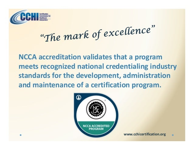 Get Certified With Cchi
