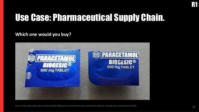 Use Case: Pharmaceutical Supply Chain. 16Source: https://www.pharmpro.com/article/2017/08/experts-comment-fdas-dscsa-seria...