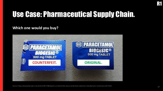 Use Case: Pharmaceutical Supply Chain. 17Source: https://www.pharmpro.com/article/2017/08/experts-comment-fdas-dscsa-seria...