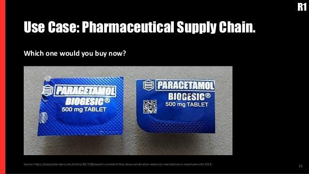 Use Case: Pharmaceutical Supply Chain. 21Source: https://www.pharmpro.com/article/2017/08/experts-comment-fdas-dscsa-seria...