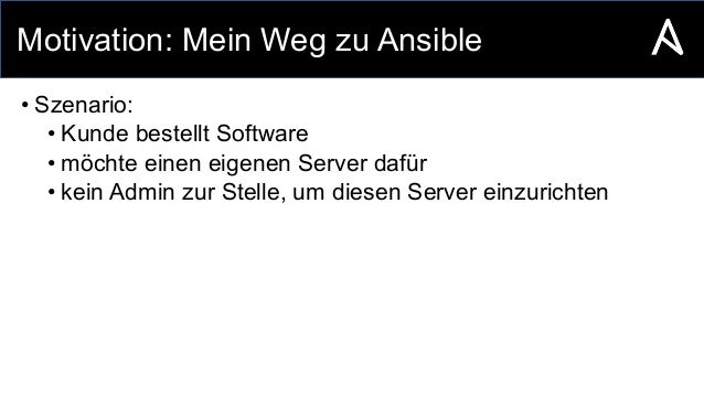 Automation with Ansible Slide 3
