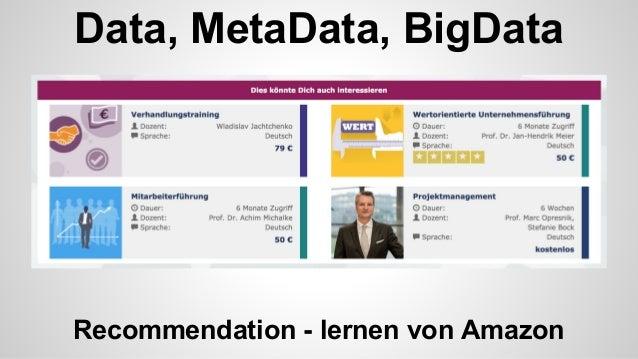 Metadaten, Lernergebnisse, Modulhandbuch, ECTS