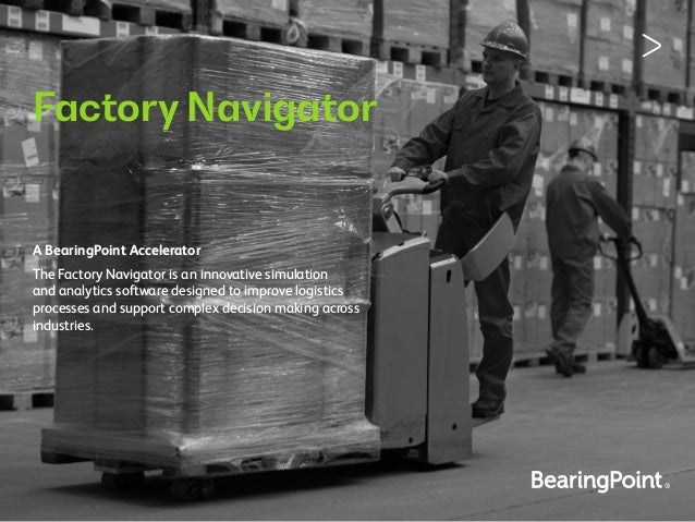 Factory Navigator The Factory Navigator is an innovative simulation and analytics software designed to improve logistics p...