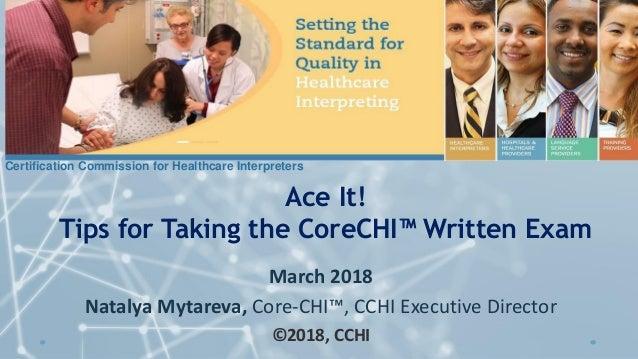 Tips For Taking Corechi Written Exam For Interpreters