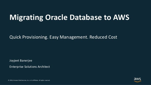 Best Practices for Migrating Oracle Databases to the Cloud