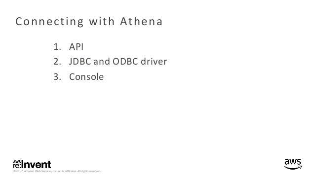 Deep Dive on Amazon Athena - AWS Online Tech Talks