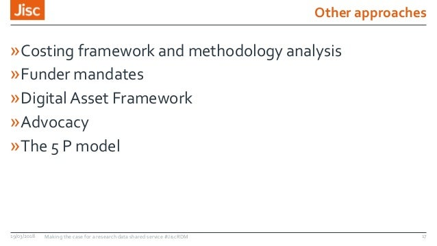 Other approaches »Costing framework and methodology analysis »Funder mandates »Digital Asset Framework »Advocacy »The 5 P ...