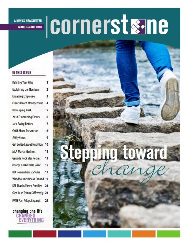2018 March-April Cornerstone Newsletter