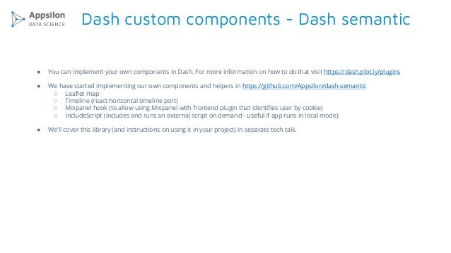 Tech Talk - Overview of Dash framework for building dashboards