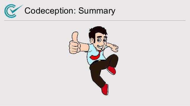 Codeception: Summary