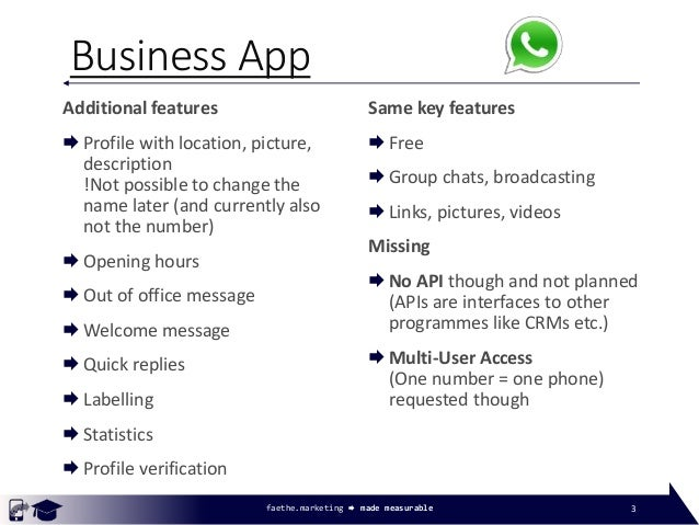 WhatsApp Business App adapted for Universities