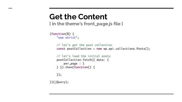 Building a mini-theme with WordPress REST API
