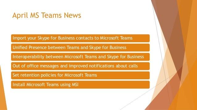2018 04 Office 365 News