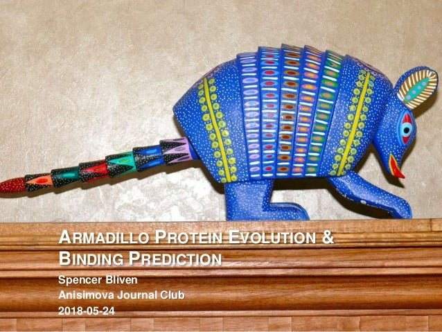 ARMADILLO PROTEIN EVOLUTION & BINDING PREDICTION Spencer Bliven Anisimova Journal Club 2018-05-24