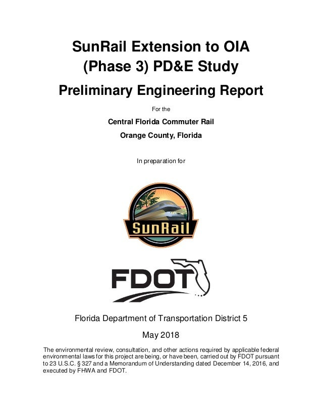SunRail Extension to OIA Preliminary Report