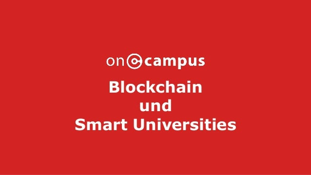 Blockchain und Smart Universities