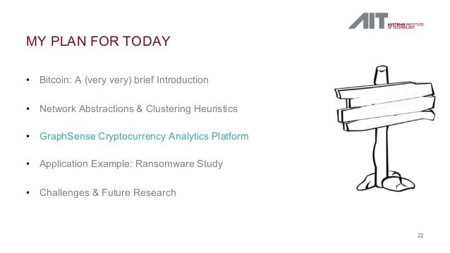 • Bitcoin: A (very very) brief Introduction • Network Abstractions & Clustering Heuristics • GraphSense Cryptocurrency Ana...