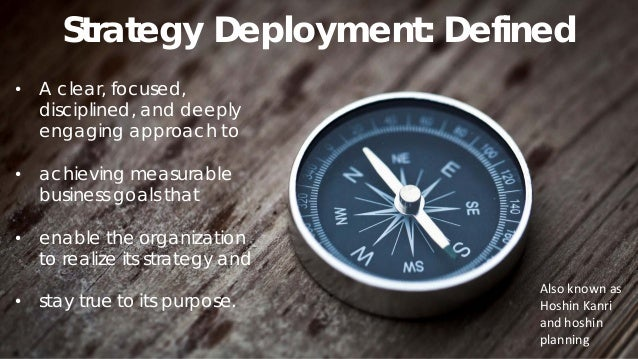 Strategy Deployment: Purpose & Benefits 20 • To align everyone in the organization from leaders to the frontlines • To gal...