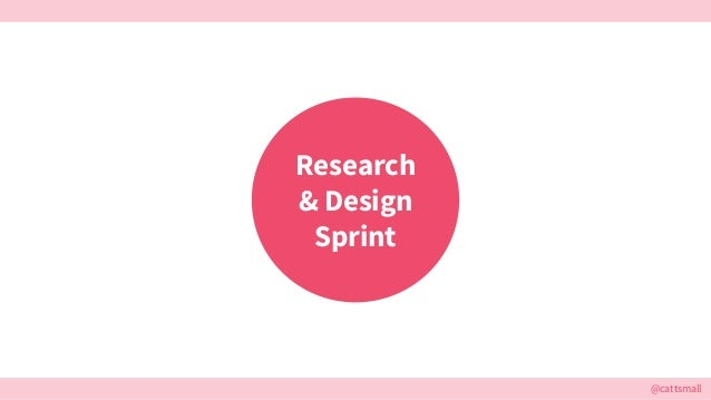 @cattsmall Research & Design Sprint