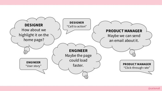 @cattsmall DESIGNER How about we highlight it on the home page? PRODUCT MANAGER Maybe we can send an email about it. ENGIN...