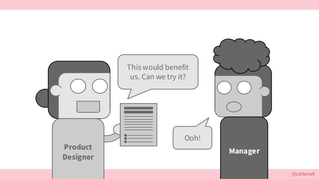 @cattsmall This would benefit us. Can we try it? Manager Ooh! Product Designer