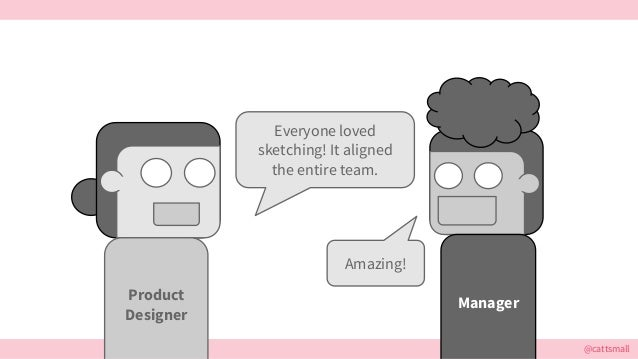 @cattsmall Everyone loved sketching! It aligned the entire team. Amazing! ManagerProduct Designer