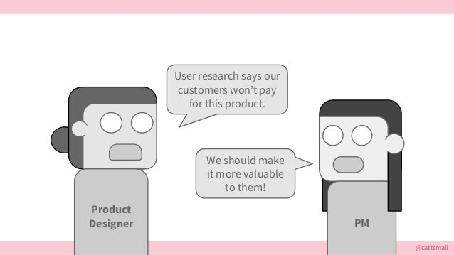 @cattsmall User research says our customers won't pay for this product. We should make it more valuable to them! Product D...