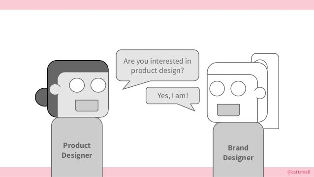 @cattsmall Are you interested in product design? Yes, I am! Brand Designer Product Designer