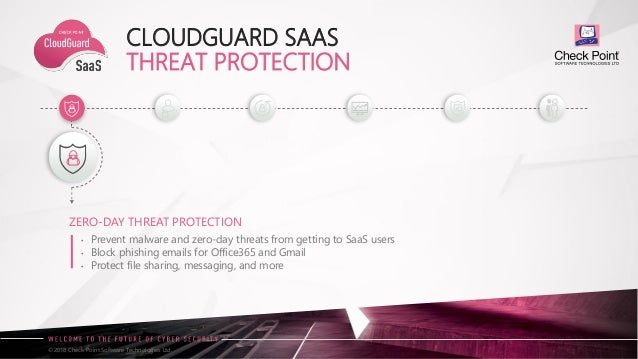 2018 06 Presentation Cloudguard SaaS de Checkpoint