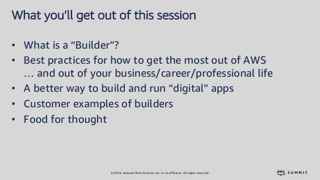 The seven habits of highly successful builders - AWS Summit