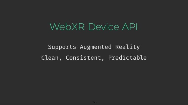 WebXR: A New Dimension For The Web Writing Virtual and