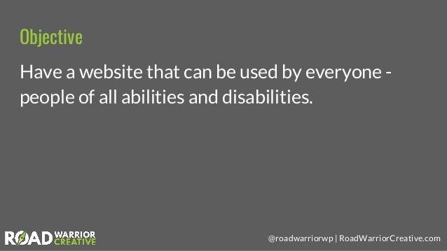 Website Accessibility & WordPress Slide 2