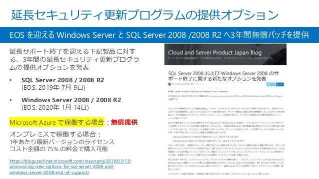 Windows Server 2008 を Azure に移行する https://docs.microsoft.com/ja-jp/azure/site-recovery/migrate-tutorial-windows- server-20...