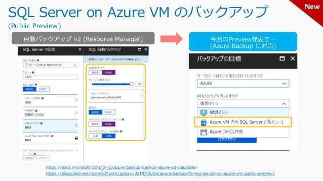 Azure Backup におけるポリシー設定 (Azure 仮想マシンの場合) 1日単位 or 週単位(曜日指定) 最大: 9,999 最大: 9,999 最大: 9,999 最大: 9,999 バックアップが実行される時刻は、どの保持期間で...
