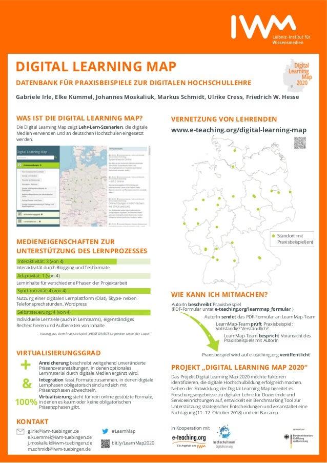 """VERNETZUNG VON LEHRENDEN www.e-teaching.org/digital-learning-map WIE KANN ICH MITMACHEN? PROJEKT """"DIGITAL LEARNING MAP 202..."""