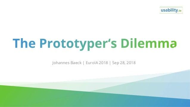 Johannes Baeck | EuroIA 2018 | Sep 28, 2018