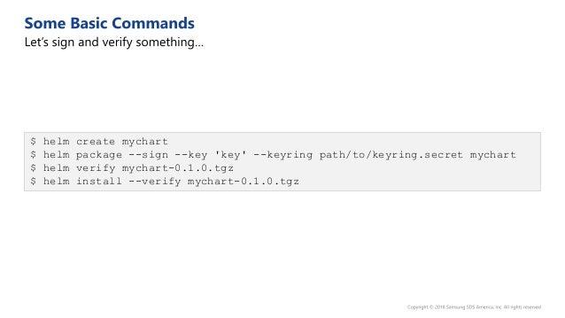 "$ helm verify topchart-0.1.0.tgz Error: sha256 sum does not match for topchart-0.1.0.tgz: ""sha256:1939fbf7c10 23d2f6b865d1..."