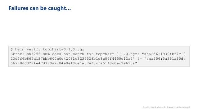 $ gpg --export-secret-keys >~/.gnupg/secring.gpg $ helm package --sign --key 'key' --keyring ~/.gnupg/secring.gpg mychart ...