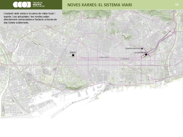 NOVES XARXES: EL SISTEMA VIARI 15 L'estació està unida a la xarxa de viària local i exprés. Les autopistes i les rondes es...