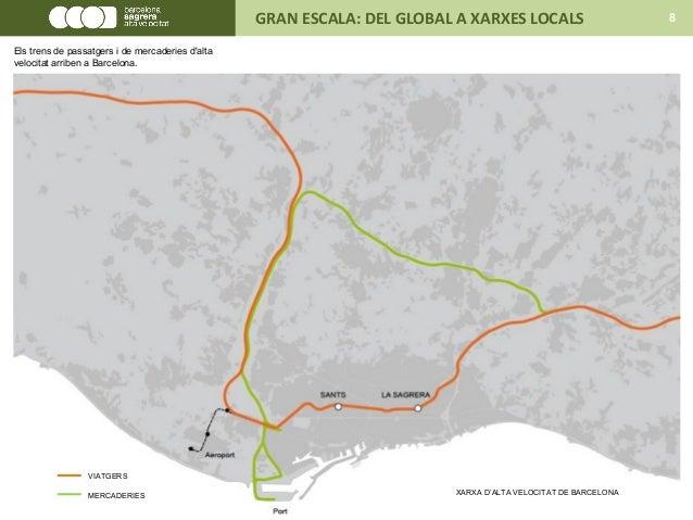 XARXA D'ALTA VELOCITAT DE BARCELONA VIATGERS MERCADERIES GRAN ESCALA: DEL GLOBAL A XARXES LOCALS 8 Els trens de passatgers...