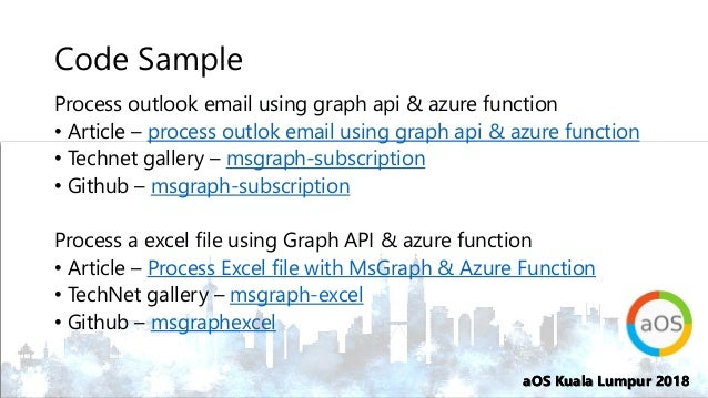 2018-10-23 7 C - Using Graph API to read outlook mail for