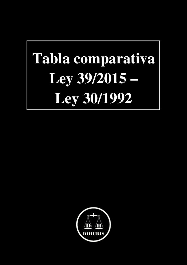 Tabla comparativa Ley 39/2015 – Ley 30/1992