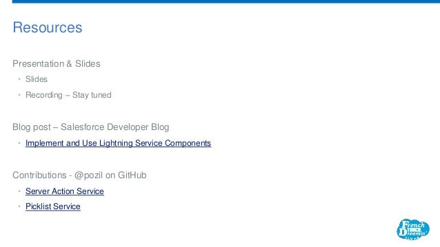 Implement & Use Lightning Service Components