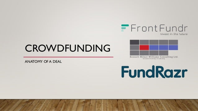 CROWDFUNDING ANATOMY OF A DEAL Sustainable Marketing | Crowdfunding
