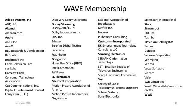 November 2018 Seattle Video Tech Meetup: WAVE Update