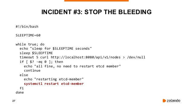 29 INCIDENT #3: LESSONS LEARNED • It's never the AWS infrastructure until it is • Treat t2 instances with care • Kubernete...
