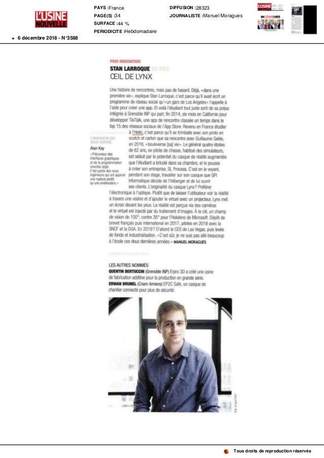 L'INGENIEURQUI VOUSINSPIRE AlanKay «Précurseur des interfaces graphiques et de la programmation orientée objet. Il fait pa...