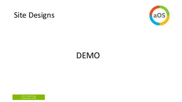 aOS Luxembourg 6 décembre 2018 Site Designs DEMO
