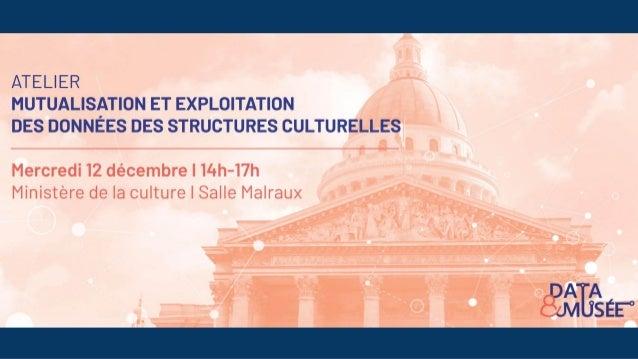 14h-14h30 Introduction à Data&Musée Intervenants : ● Jean-Claude Moissinac, Maître de conférences / Institut Mines-Telecom...